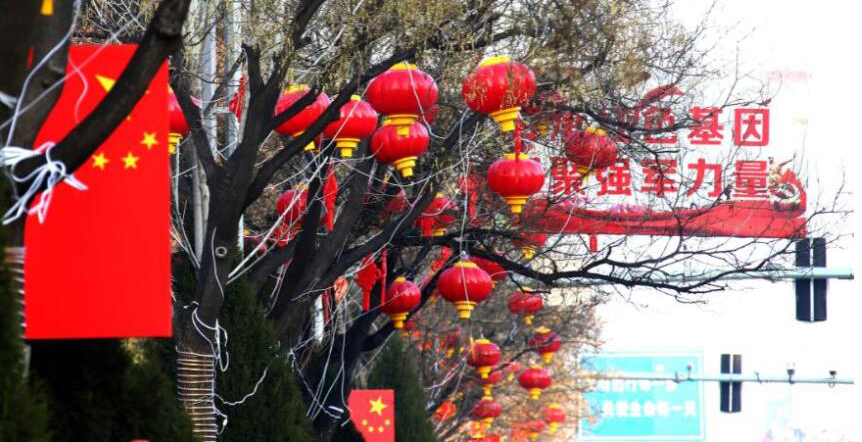 聊城:大红灯笼迎新春