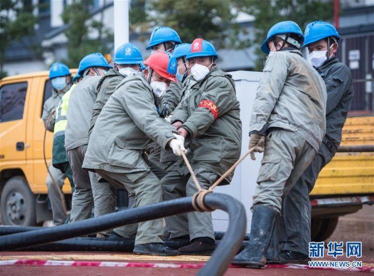 (新型肺炎疫情防控)(4)武汉第二座应急医院——雷神山医院开建