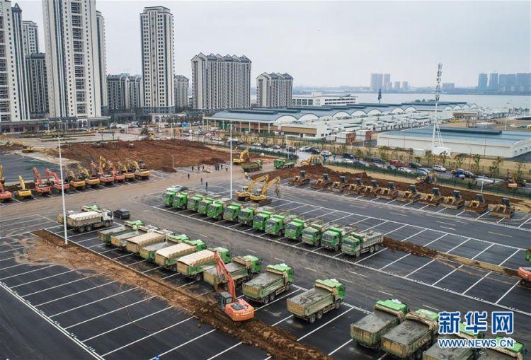 (新型肺炎疫情防控)(2)武汉第二座应急医院——雷神山医院开建