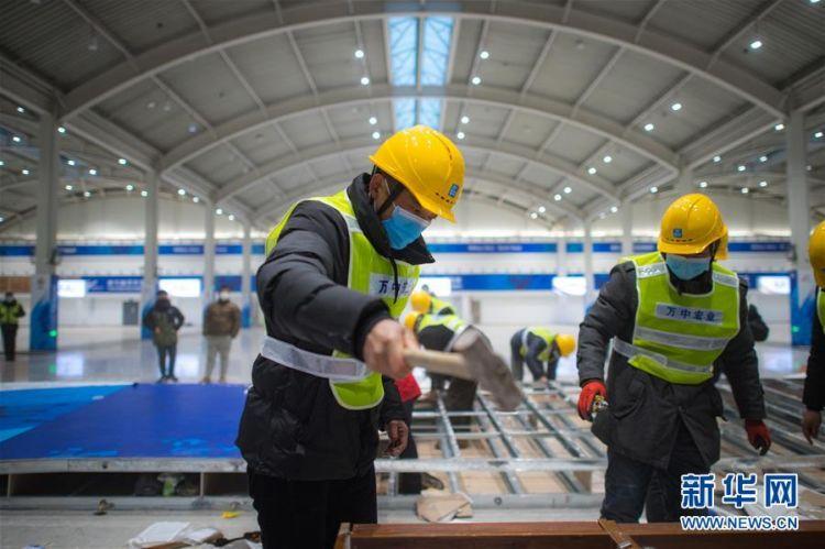 (新型肺炎疫情防控)(5)武汉第二座应急医院——雷神山医院开建