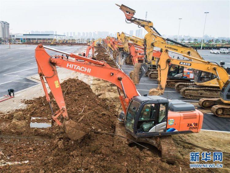 (新型肺炎疫情防控)(8)武汉第二座应急医院——雷神山医院开建