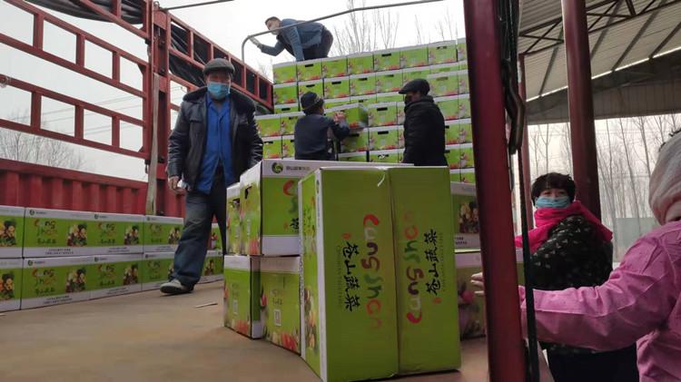 發往武漢!臨沂蘭陵無償捐送200噸蒼山大蒜