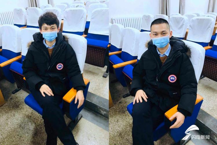 图为一名男医务工作者剪发前和剪发后对比。.png