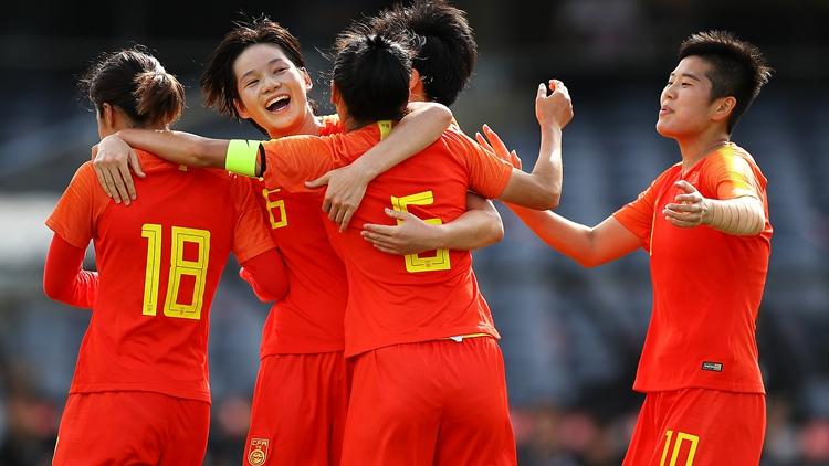 五球大胜!中国女足提前晋级附加赛