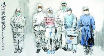北京近300位美术家创作504幅作品致敬英雄