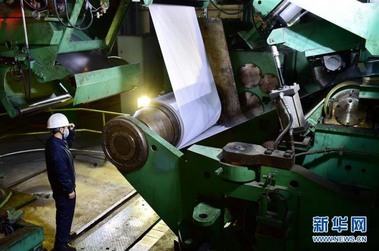 (来自经济前沿的故事·企业复工复产·图文互动)(1)防控不漏一人 复工复产有序——中国不锈钢龙头企业生产见闻