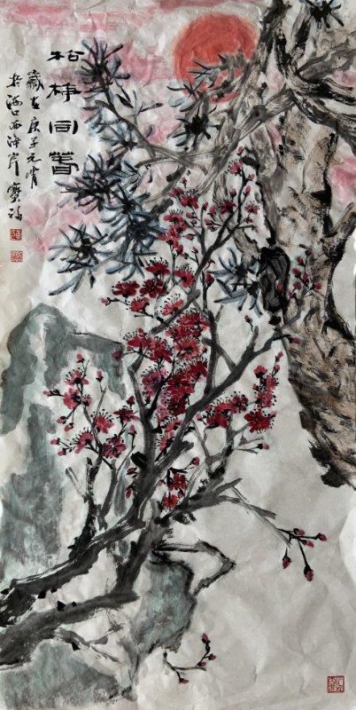 黄宝福:松梅同春
