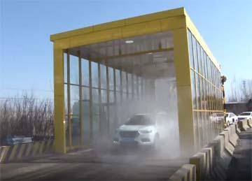 42秒|枣庄市中区启用首个全自动车辆消毒通道
