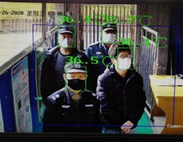 未雨绸缪! 潍坊市一学校建立快速测温室内通道