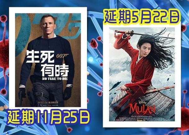 《花木兰》《007》延迟上映 全球影业或将损失50亿美元