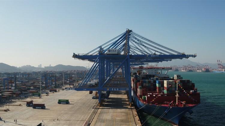 氫能驅動、5G互聯!記者探訪青島港全自動化集裝箱碼頭