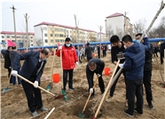栽下一片树 美丽一座城 杨梦斌、韩利学参加仙河镇春季义务植树活动