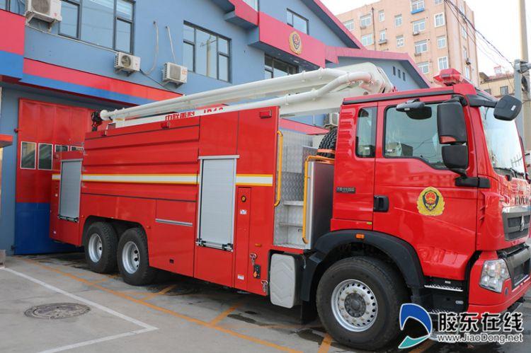 致富不忘消防事业 栖霞爱心企业捐赠消防车(图)