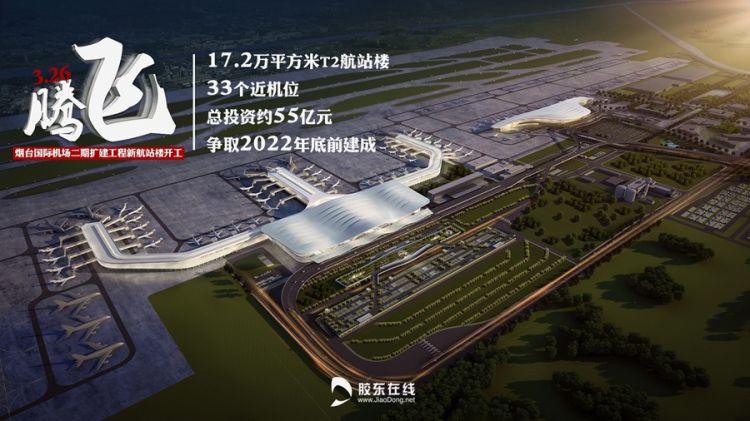 抢先看!烟台机场二期开工!一大波效果美图来袭 总投资约55亿 2022年底建成