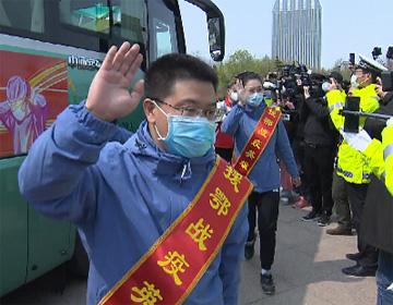 """49秒丨潍坊援助湖北医疗队队员王桂臣:奋战52天带回三个""""零"""""""