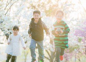 孩子们徜徉花海尽情奔放 触碰春天最美的模样