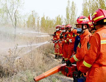 滨州消防开展跨区域森林火灾实战演练