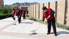 """志愿服务进社区 爱国卫生防疫情——滨州市技师学院""""四进""""工作组在行动"""