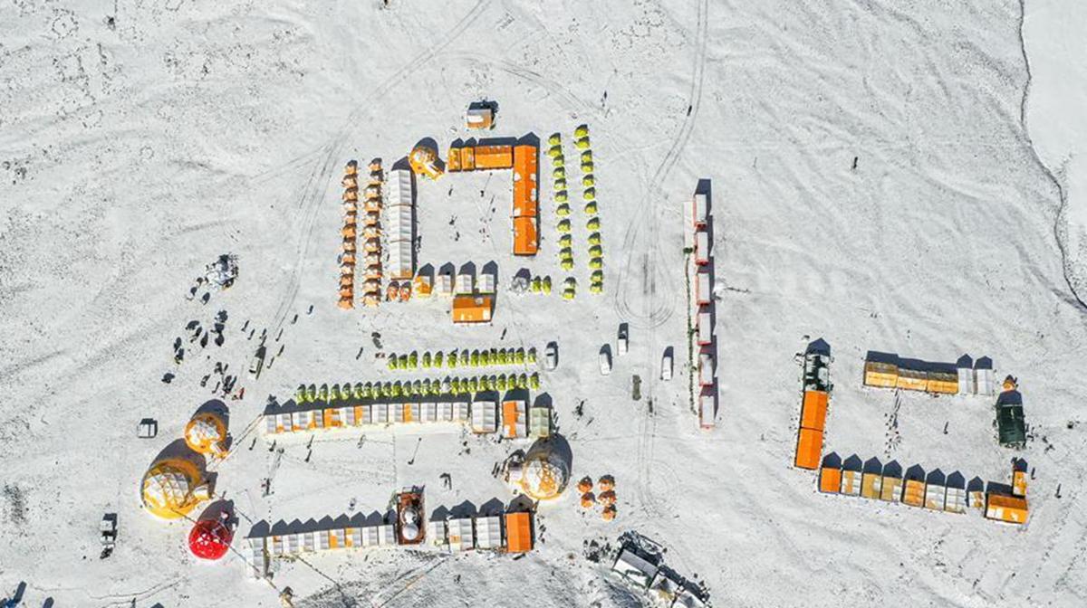 俯瞰珠峰大本营