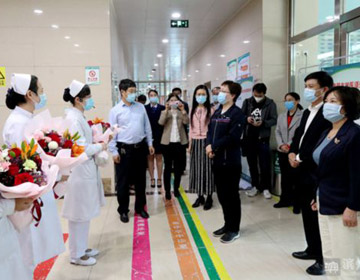 """""""5·12""""国际护士节前夕 滨州市领导走访慰问在岗护士"""