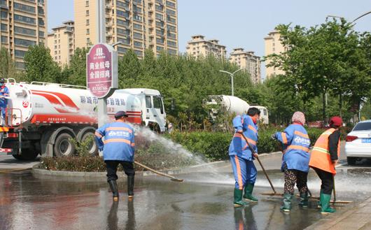 """聊城开展""""洗城行动"""" 计划用半年时间降低城区积尘负荷和扬尘污染"""