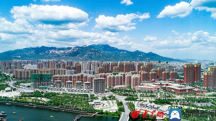 泰安:蓝天白云刷爆朋友圈 西部新城尽显生态之美