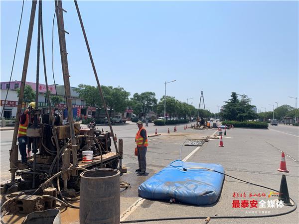 泰安市迎胜路南延改造工程第一部分地质勘察完成