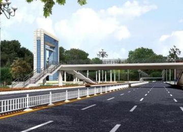 海滨路3座过街天桥开始施工