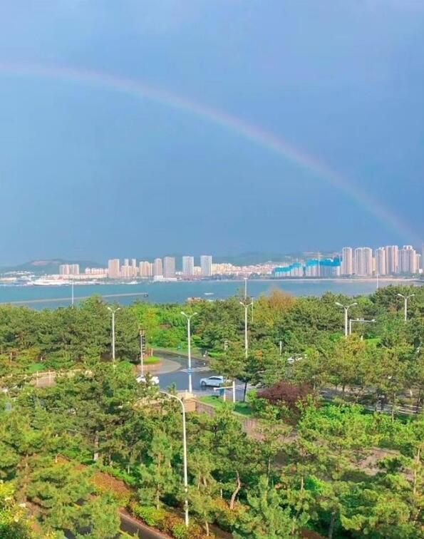 快看!威海雨后惊见彩虹,美极了
