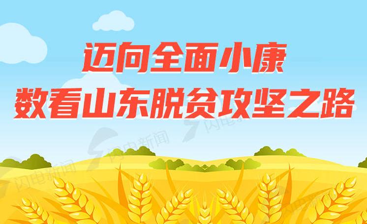 """""""決勝2020""""系列圖解   邁向全面小康,數看山東脫貧攻堅之路"""