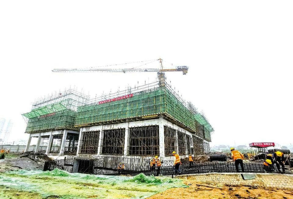 东港区政府广场南片区项目推进中