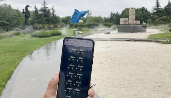 园林浇水也智能化啦 临沂雕塑公园安装智慧灌溉系统