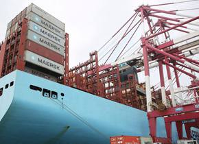 组图|青岛港前湾集装箱码头一片繁忙