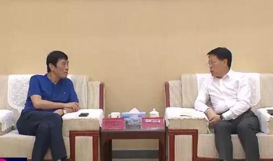 中国足协主席陈戌源一行来淄博调研