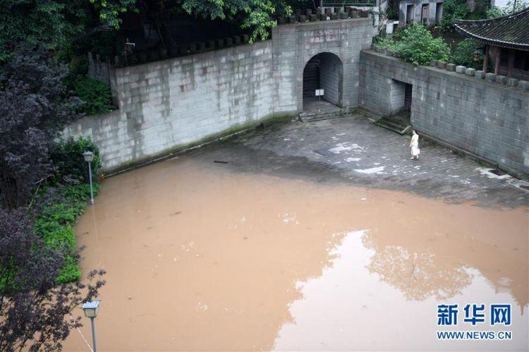 (防汛抗洪)(3)重庆:千年古镇磁器口部分受淹