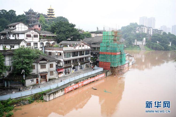 (防汛抗洪)(1)重庆:千年古镇磁器口部分受淹