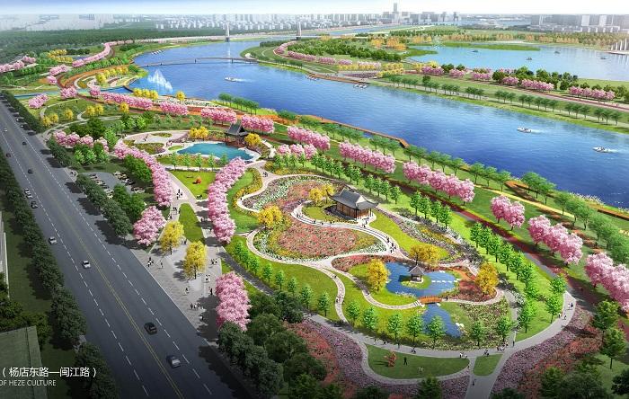 万福河生态景观带设计出炉