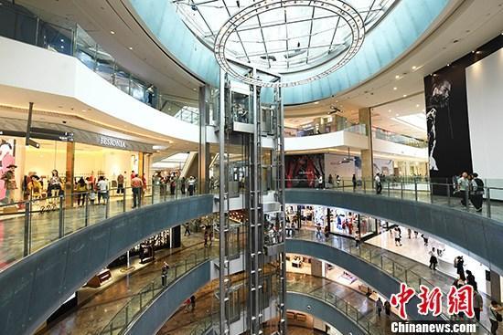 图为重庆一商场。 <a target='_blank' href='http://www.chinanews.com/'>中新社</a>记者 陈超 摄