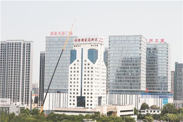 淄博高新区楼顶广告逐步拆除清零