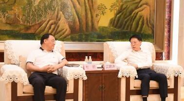 江敦涛于海田会见平安集团党委副书记杜鹏一行
