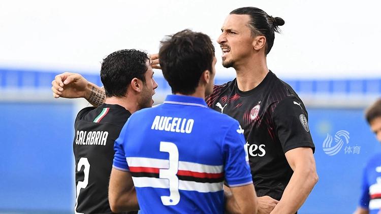 伊布霸气庆祝,AC米兰4-1胜桑普