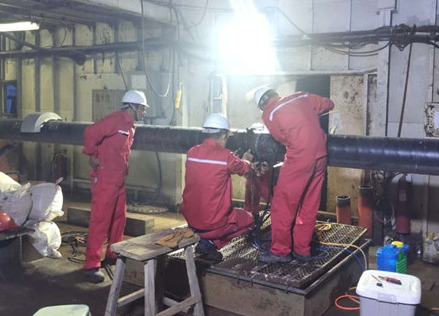 埕岛东区管陶组油藏开发海底管线铺设完成