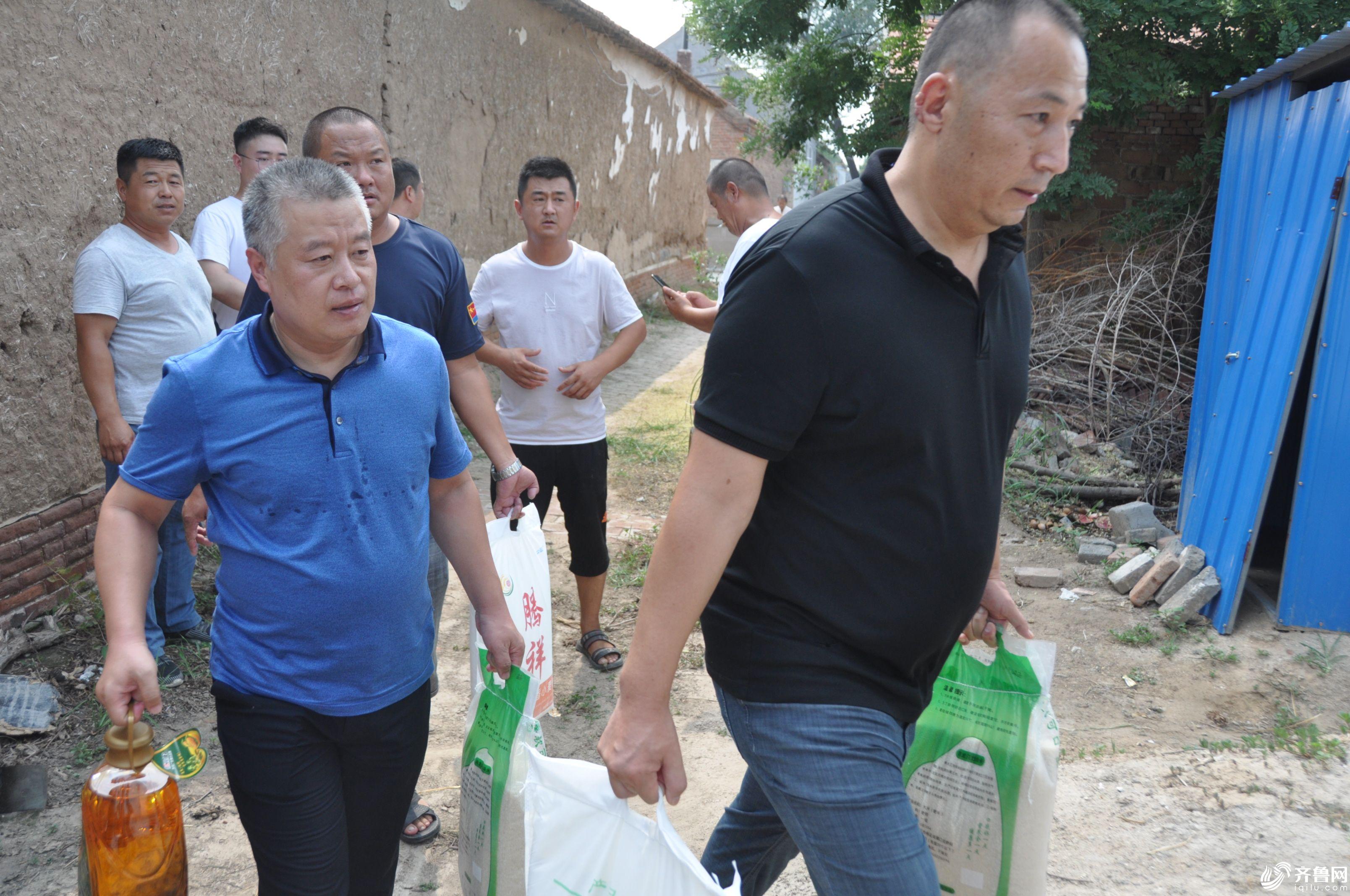 吕晓滨和从新走访慰问贫困群众