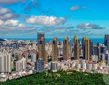 夏日打卡青岛电视塔 全景式饱览岛城壮美景色