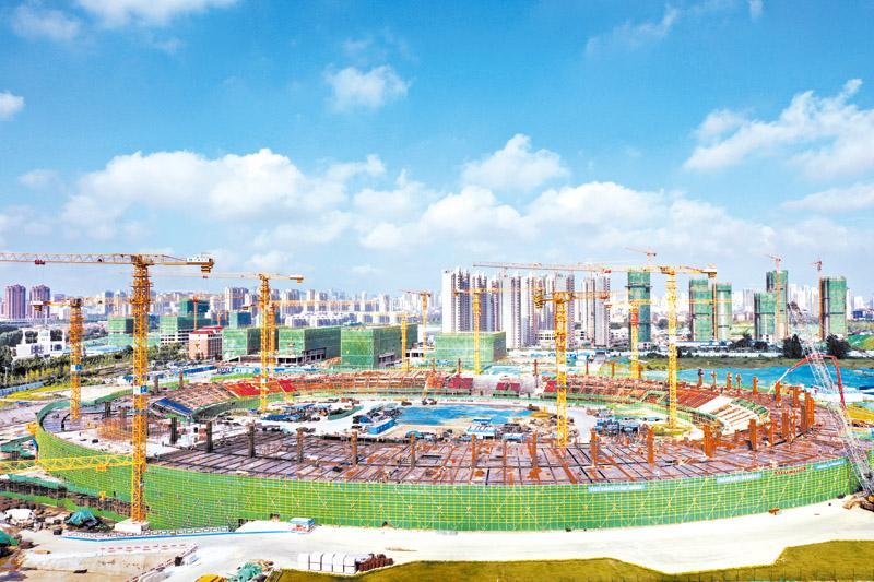 日照奎山体育中心加速建设
