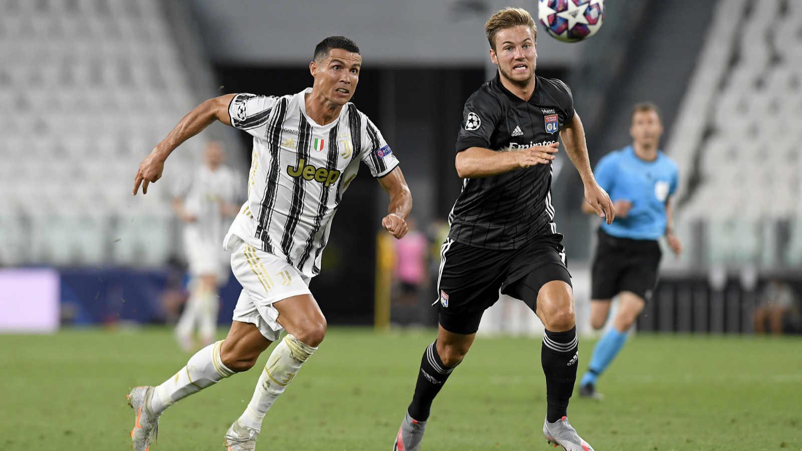 欧冠:C罗两球难救主 尤文2-1里昂总比分2-2遭淘汰