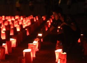 贝鲁特大爆炸发生一月 民众举行守夜活动