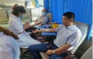 """滕州市张汪中心卫生院组织开展""""爱心献血""""活动"""