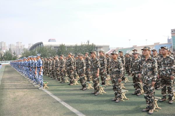 潍坊学院举行2020级新生开学典礼暨军训动员大会1228