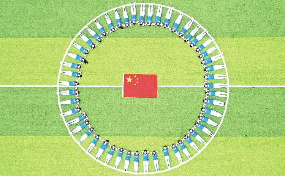 日照各界不同形式迎接国庆节